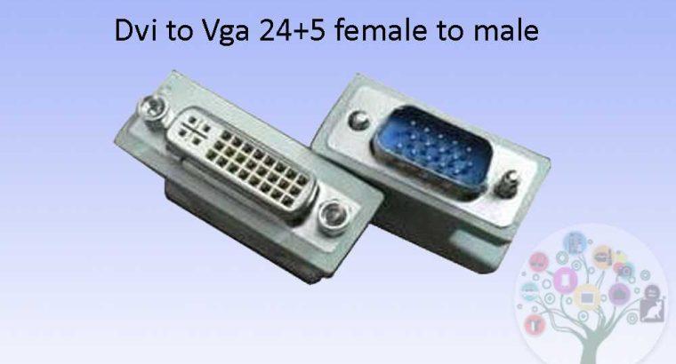 DVI TO VGA 24+5