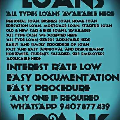 All Type Loans Available Here